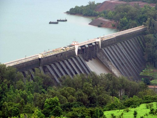 Koyana Dam that diverts water from Krishna basin to Konkan