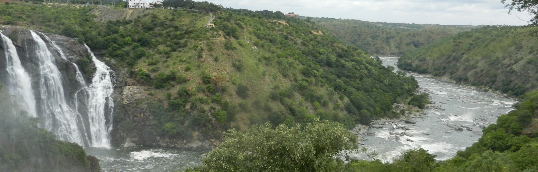 The beautiful Cauvery, shackeled in many small hydel projects at the gaganchukki falls, Karnataka. Photo: SANDRP