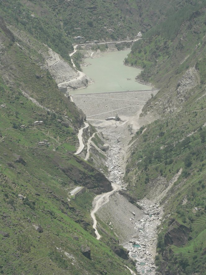 Dry tributary of Ganga downstream of Dhauliganga Project in Uttarakhand