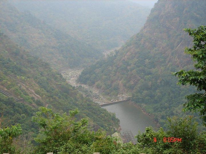 No flows in Sharavathy downstream Linganmakki  Dam and Jog Falls. Photo: SANDRP