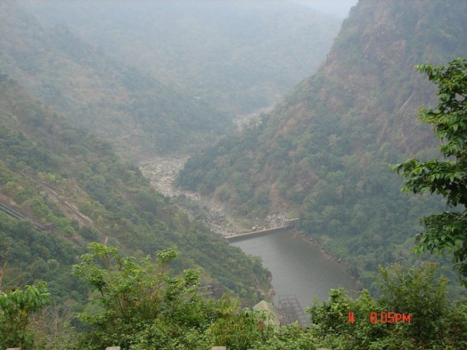 No flows in Sharavathy downstream Linganmakki  Dam and Jog Falls. Photo: SANDRP