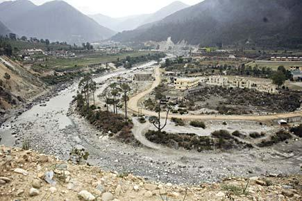 Dry River at Uttarkashi Photo: Open Magazine