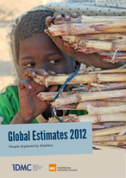 Cover of the IDMC Report on Disaster Induced Displacement