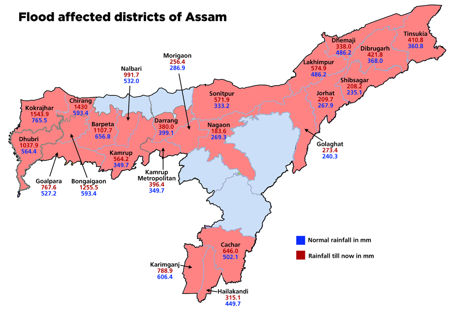 Flood Effected Districts in Assam in 2012 Source: http://www.downtoearth.org.in/content/assam-arunachal-pradesh-face-worst-ever-floods-recorded-june