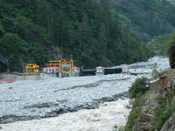 Destroyed 400 MW Vishnuprayag HEP on Alaknanda. Photo: Matu Jan Sangathan