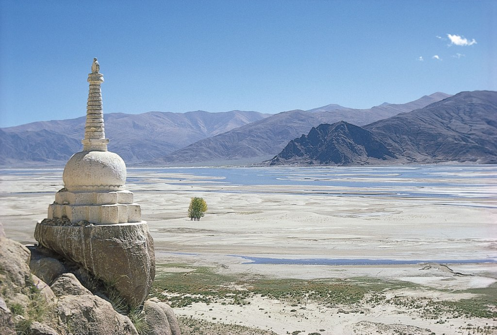 A Buddhist shrine called a stupa overlooks the Brahmaputra River in southern Tibet. Source: http://kids.britannica.com/comptons/art-67000/A-Buddhist-shrine-called-a-stupa-overlooks-the-Brahmaputra-River
