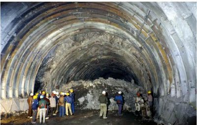Underground Tunnel at Nathpa Jhakri Project