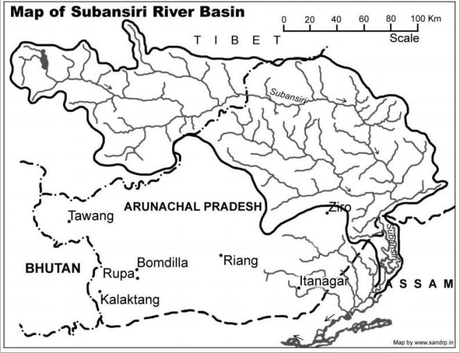 Map of Subansiri RIver Basin  Source: https://sandrp.in/basin_maps/Subansiri_River_Basin.pdf
