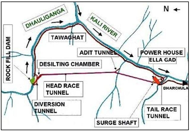 Map of Dhauliganga Dam Source: NHPC