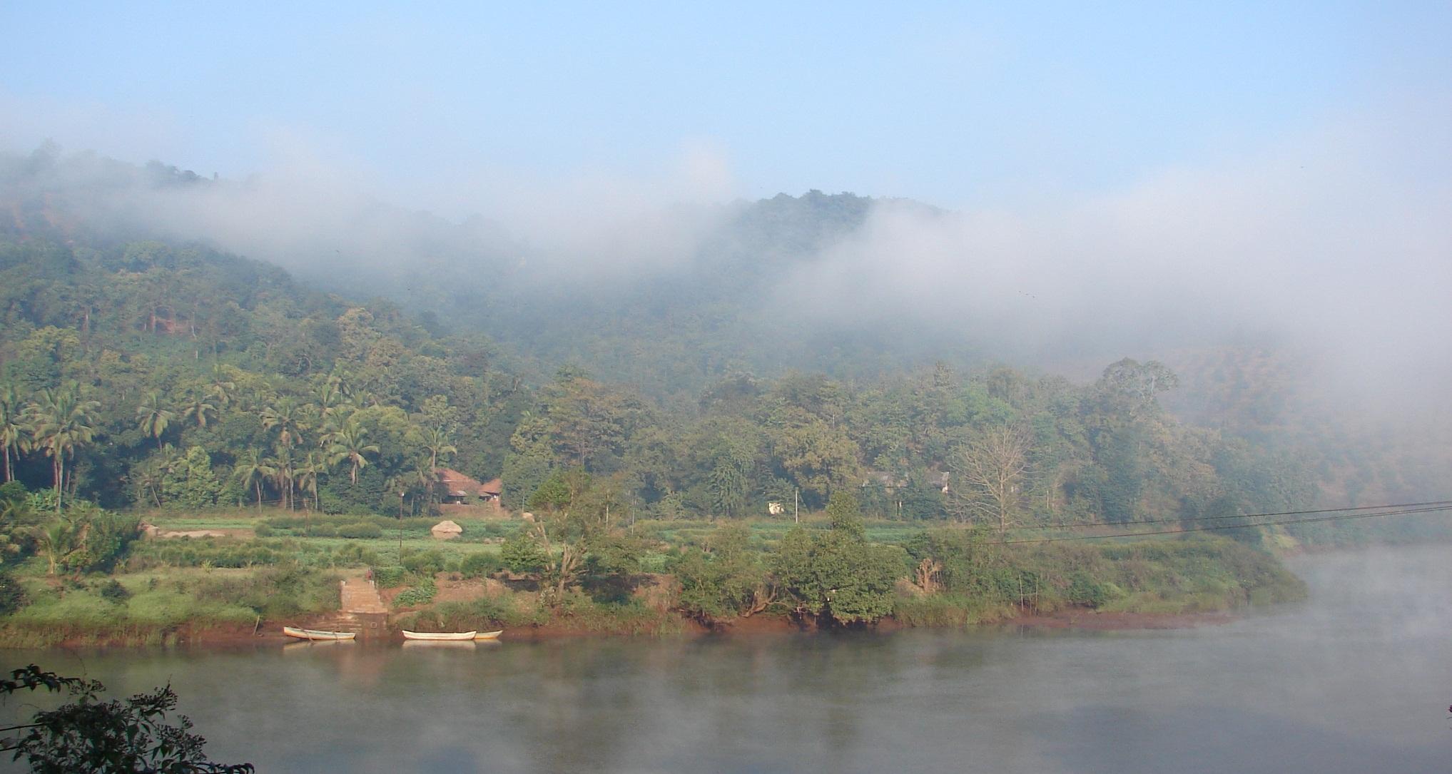 Estuary of the free flowing Shashtri River in Maharashtra