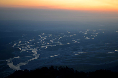Breathtaking floodplains of the Lohit River, an important tributary of the Brahmaputra, threatened by the 1750 MW Lower Demwe Dam.  Photo: Neeraj Vagholikar
