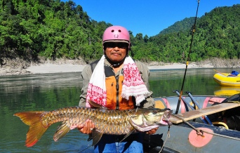 Chocolate Mahseer in Subansiri  Source: http://www.flickr.com/photos/8355947@N05/7501485268/
