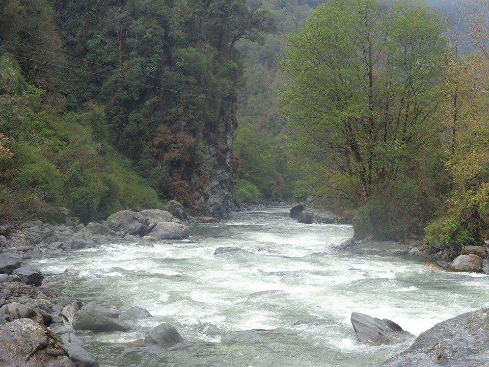 The beautiful Nyamjangchu River, Tawang, Arunachal Pradesh, now threatened by the 780 MW Nyamjangchu Hydel Project. Photo courtesy: Tenzing Rab Monpa
