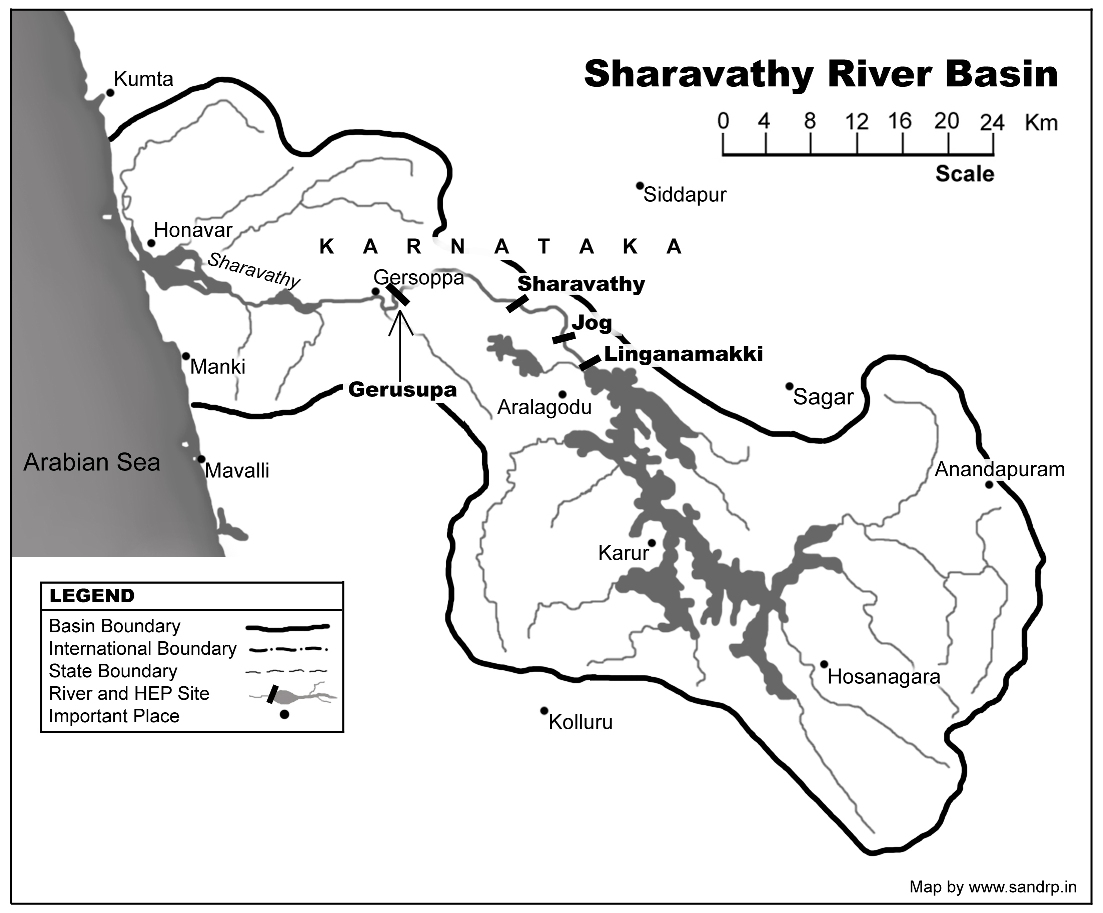 Projects on Sharavathi Map: SANDRP