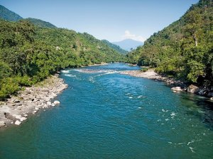 Subansiri River in the Upper Reaches  Source: Lovely Arunachal