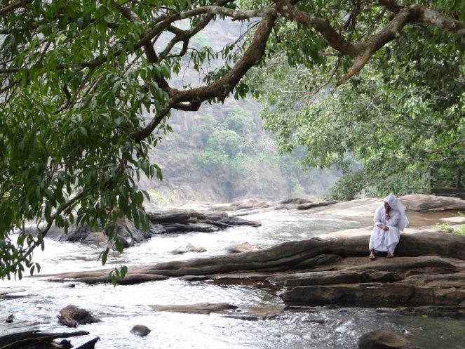 Thinking like a River at Athirappilly Falls on Chalakudy River, threatned by 164 MW Athirappilly Hydel Project Photo: SANDRP