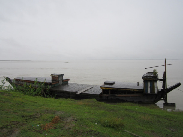 Boat by the Brahmaputra Photo: SANDRP