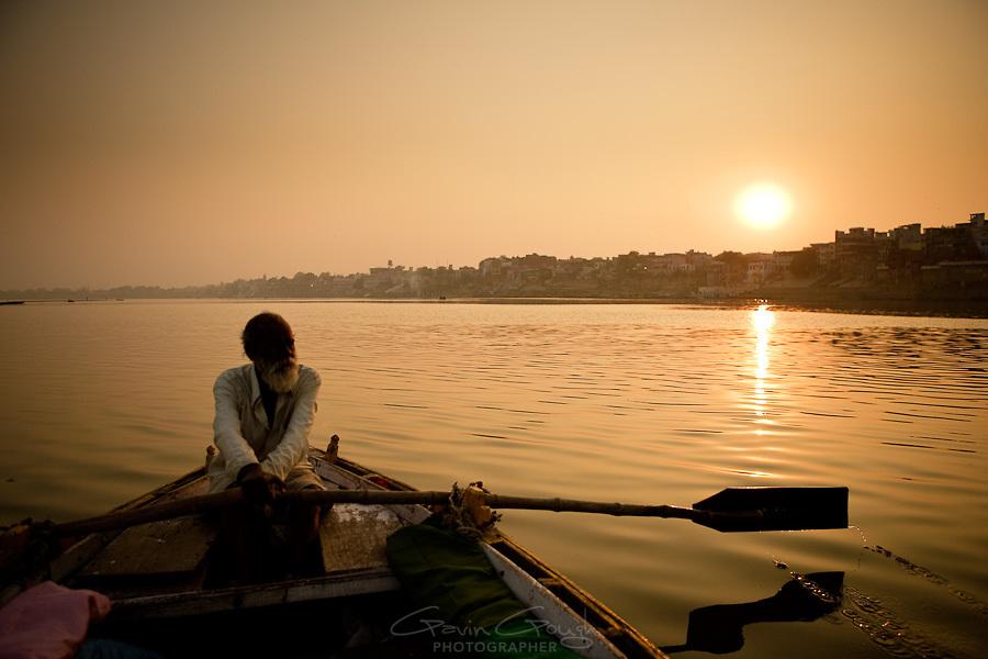 Ferryman at Varanasi Photo: with thanks from Gavin Gough gavingough.photoshelter.com