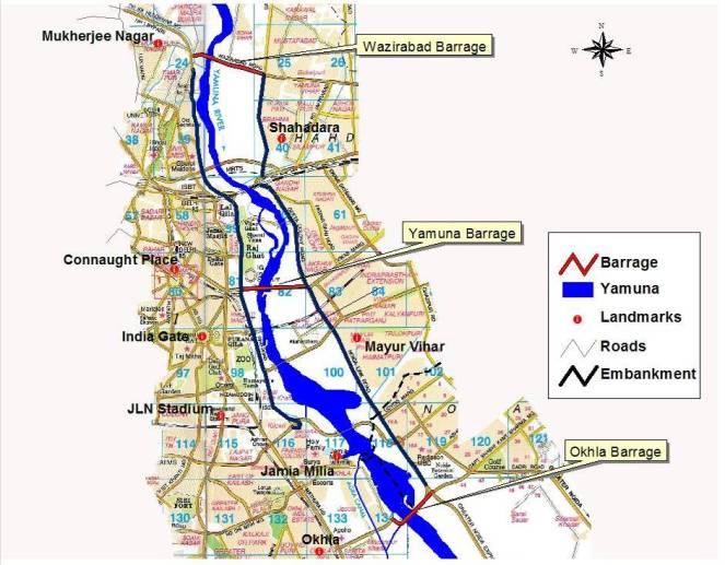 River Yamuna in Delhi