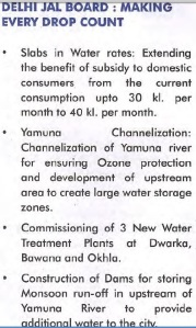 Experts from Congress Manifesto on Yamuna