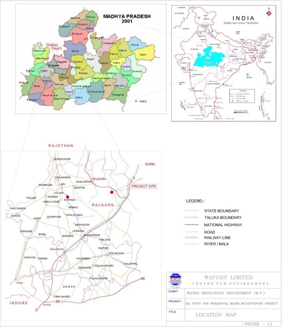 Location map of the Mohanpura Project (Source: Project EIA)