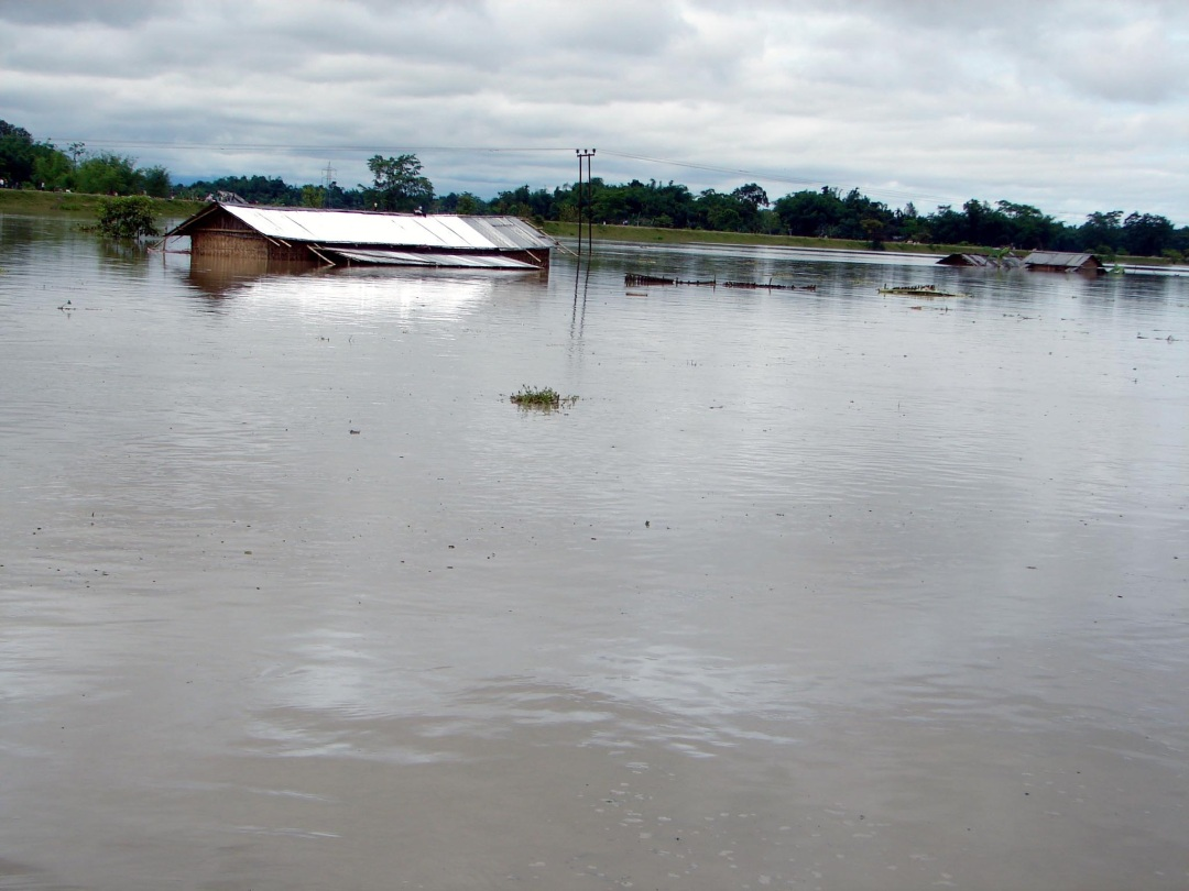 First Wave of Flash Flood on June 14, 2008 near N Lakhimpur town, due to excess water released from Ranganadi HEP without prior warning