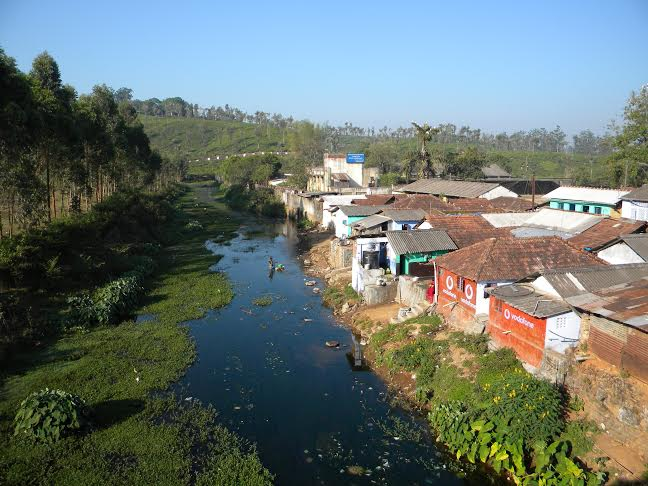 Polluted stream in Valparai ESA  Photo: Author