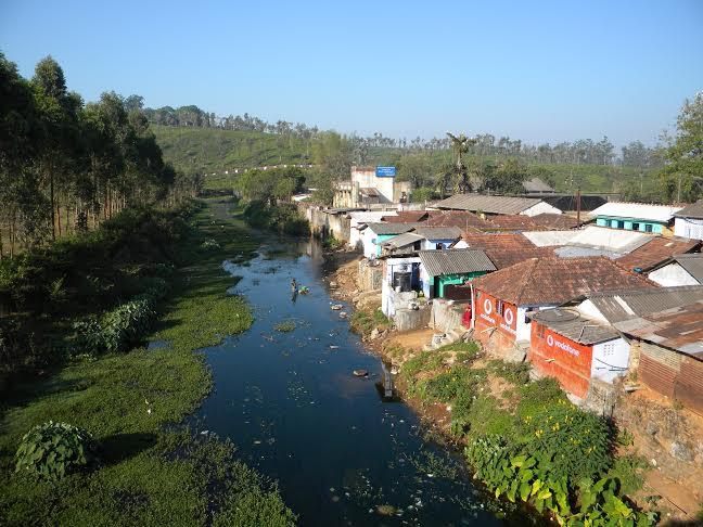 Polluted stream in Valparai ESA  Photo: Author