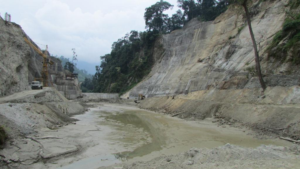 Pare hydro-power project on Pare/Dikrong river in Arunachal Pradesh is currently under -construction.  Photo – Parag Jyoti Saikia