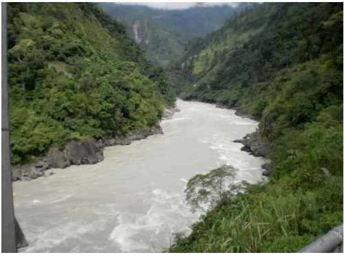 Lohit river in Anjaw district.  Source: EIA report