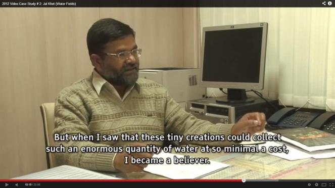 Another screenshot from Jal Khet showing why the govt official changed his views