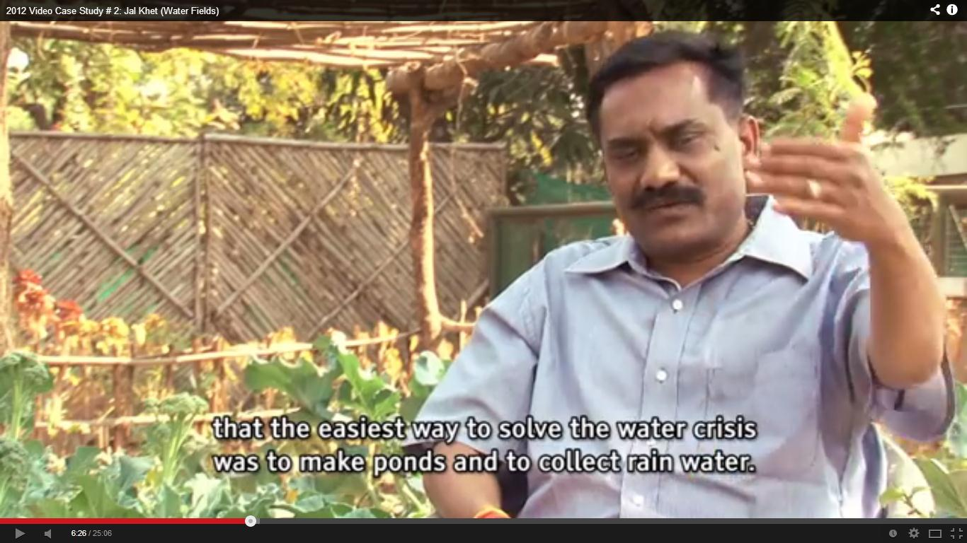 Dewas district collector Umakant Umarao explaining in Jal Khet film how RWH is the best option for the region and showed this on ground