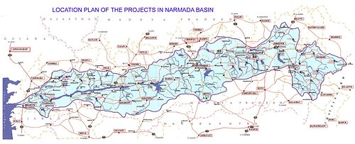 Projects in Narmada Basin Photo: NVDA