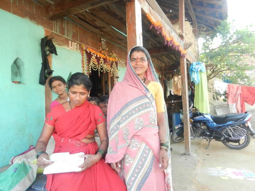 Smr Sangeeta Vare from Kochale village, struggling to get a project affected certificate Photo: Parineeta Dandekar