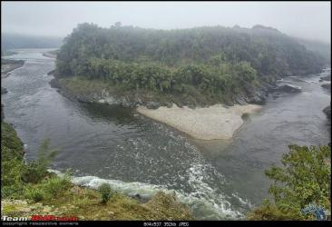 Formation of River Siyom, which will have multiple dams in a cascade Photo from: Team BHP