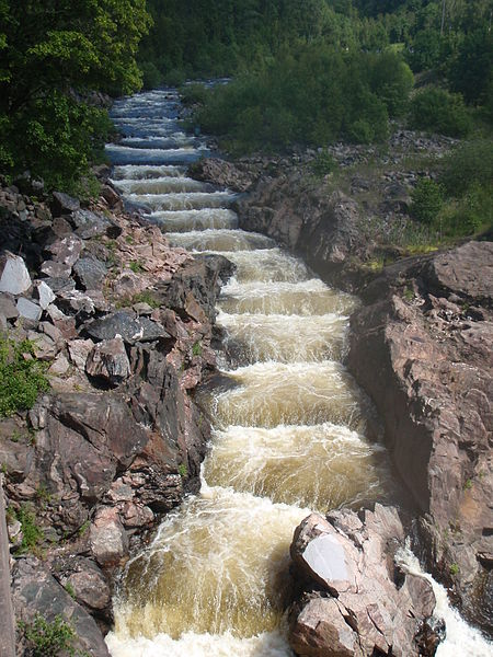 Special Fish Ladder for Salmon in Sweden. Photo: Wikipedia