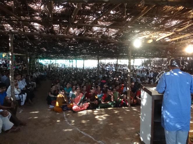 Ananth Hegde Ashisar addressing the Shalmala Rally
