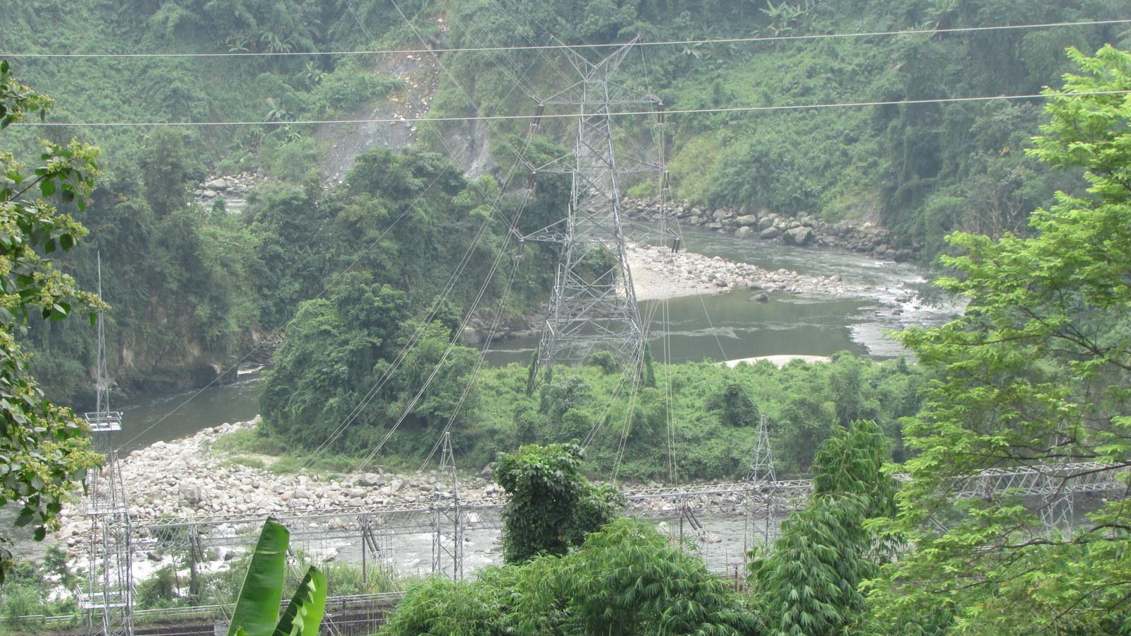 Dikrong Power Station at Hoz where water from Ranganadi HEP is released in Dikrong. Photo: Parag Jyoti Saikia