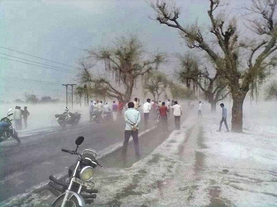 Hailstorms Photo from : eSakal