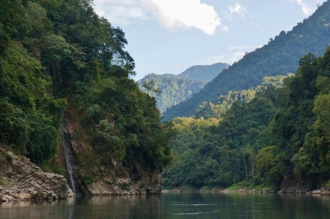 River Subansiri flowing through its lush green valley