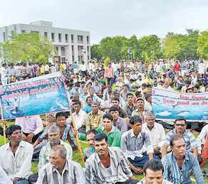 Protest against the Bhadbhut Barrage also on Narmada Photo: Counterview.net