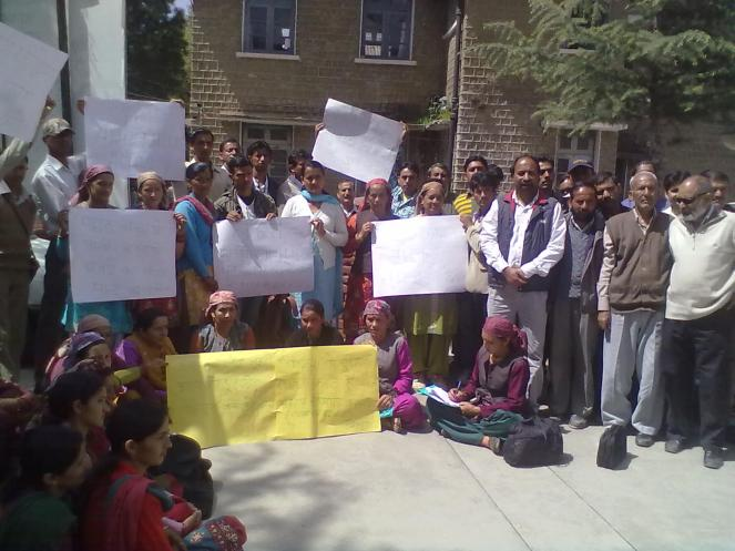 Protest against Luhri Dam