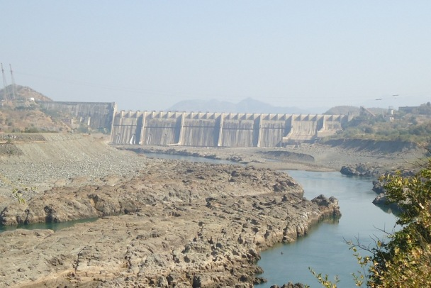 Sardar Sarovar Dam in the upstream of Garudeshwar dam. Photo - SANDRP