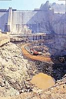 SSP Stilling Basin damaged in 1995 Photo: Frontline