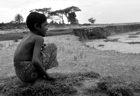 Bhola Island in Bangladesg, eroded by Meghana RIver. PhotoSrestha Banerjee, Green Clearance Watch