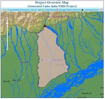 Dhansiri irrigation project  command area: Source: India WRIS Wiki
