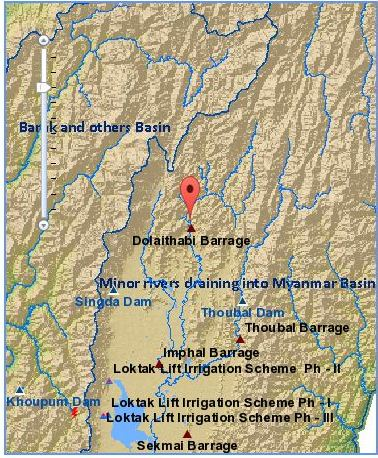 Location map of Dolaithabi and Thoubal project. Source: India WRIS Wiki