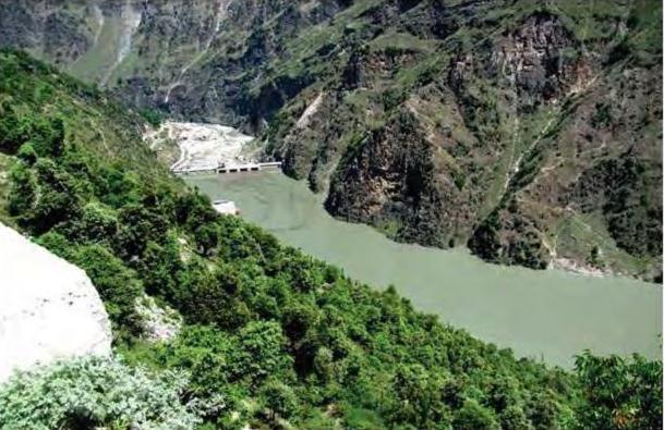 Impoundment of Chenab at Dul Site