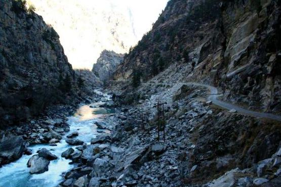 Left Bank slide for Kiru Project downstream of Ludrari Nala