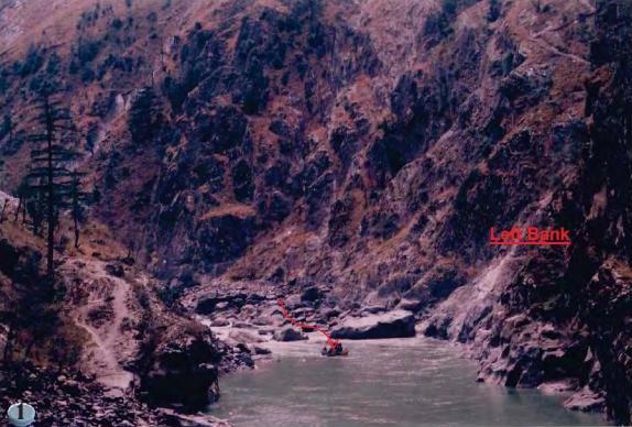 Proposed dam site for Kiru HEP